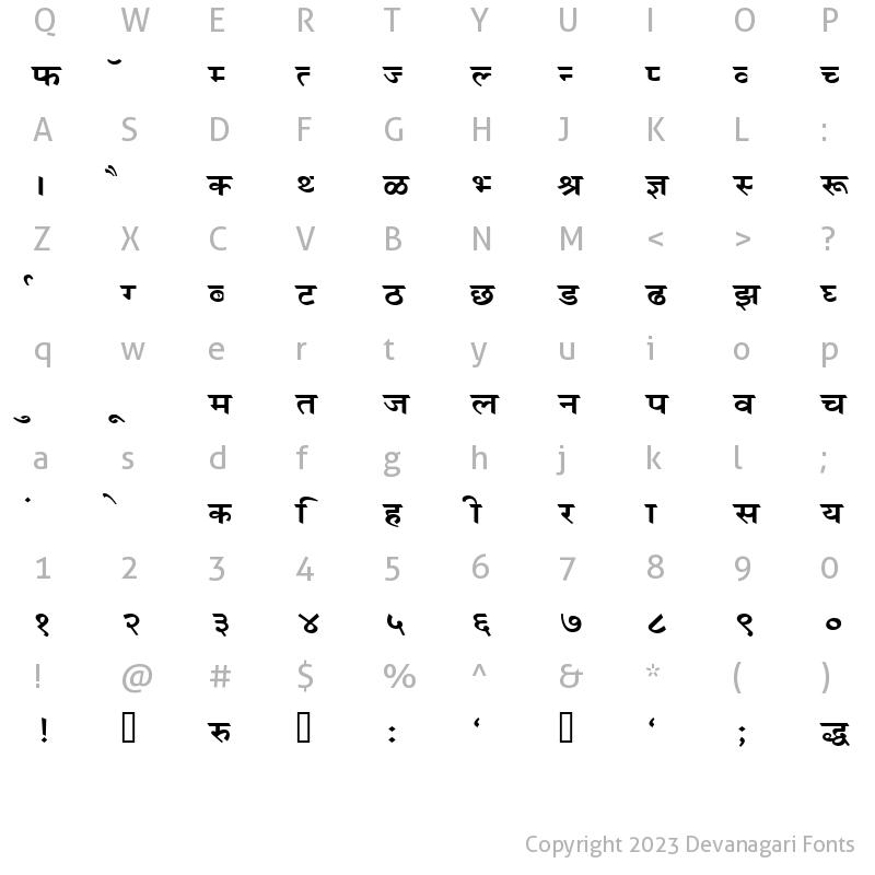 Devanagari Fonts : Kruti Dev Display 490 Regular - Free